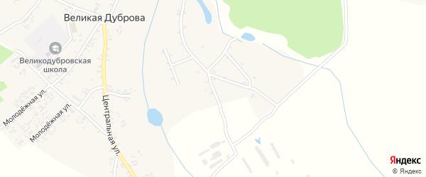 Первомайская улица на карте села Великая Дуброва с номерами домов