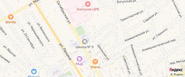 Транспортная улица на карте Унечи с номерами домов