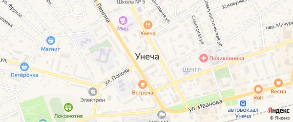1-й Кольцевой переулок на карте Унечи с номерами домов