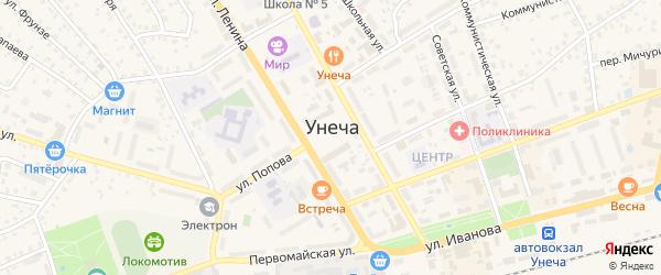 Территория ГК Дружба на карте Унечи с номерами домов