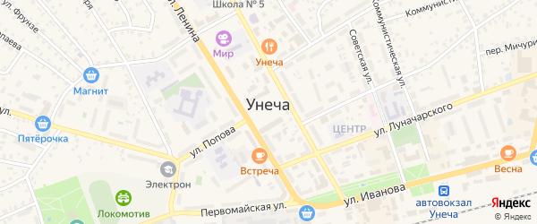 Площадь Ленина на карте Унечи с номерами домов