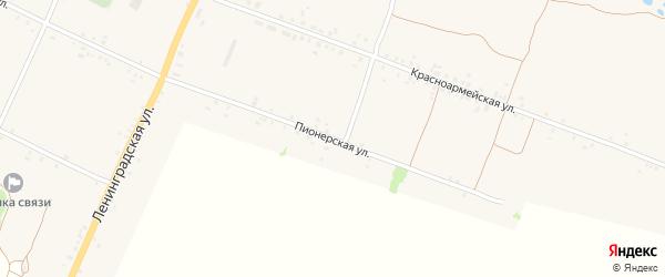 Пионерская улица на карте села Воронка с номерами домов