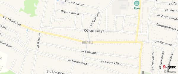 Улица Есенина на карте Унечи с номерами домов
