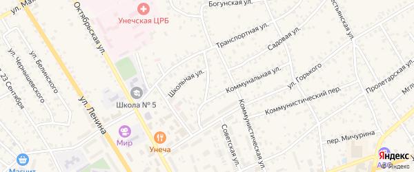 Коммунальный переулок на карте Унечи с номерами домов