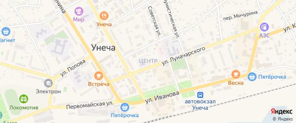 Центральная улица на карте Унечи с номерами домов