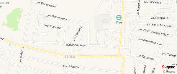 2-й Юбилейный переулок на карте Унечи с номерами домов