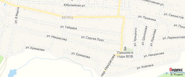 Улица Лазо на карте Унечи с номерами домов