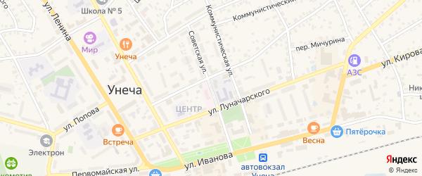 Советская улица на карте Унечи с номерами домов