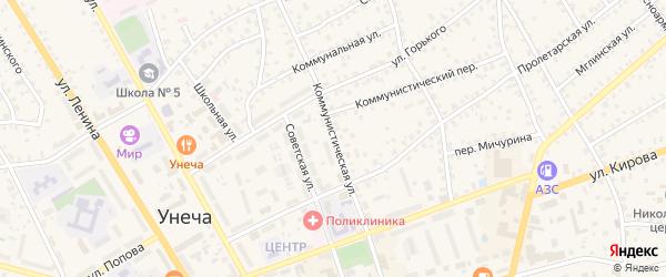 Коммунистическая улица на карте Унечи с номерами домов