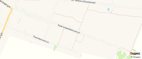 Красноармейская улица на карте села Воронка с номерами домов