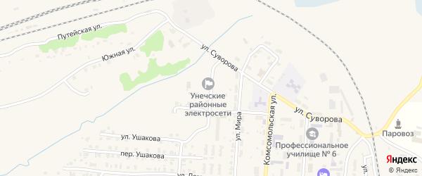 Переулок Мира на карте Унечи с номерами домов