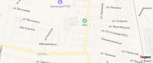 3-й Комсомольский переулок на карте Унечи с номерами домов