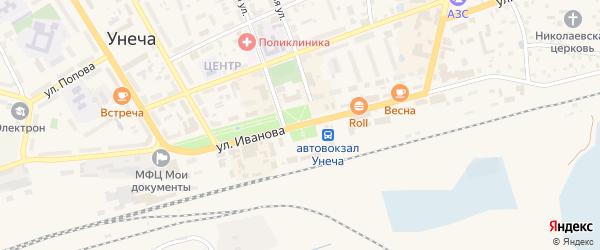 Богунская улица на карте Унечи с номерами домов