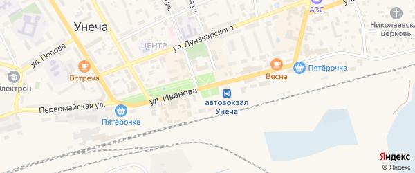 3-й Каштановый переулок на карте Унечи с номерами домов
