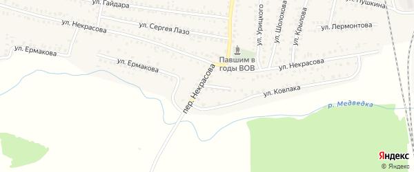 Переулок Некрасова на карте Унечи с номерами домов