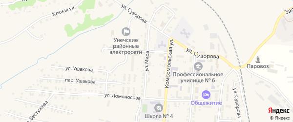 Улица Мира на карте Унечи с номерами домов