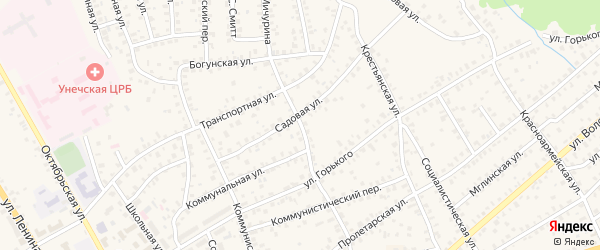 Улица Мичурина на карте Унечи с номерами домов