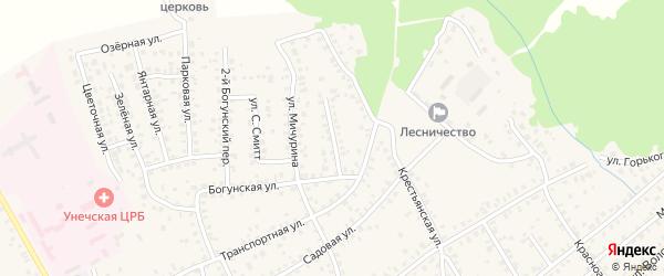Улица Тимирязева на карте Унечи с номерами домов