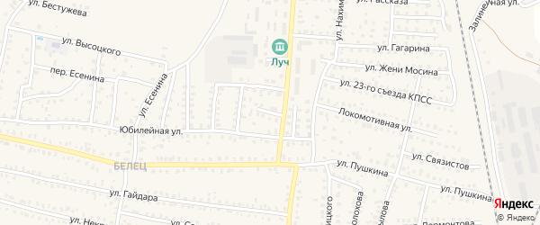 2-й Комсомольский переулок на карте Унечи с номерами домов