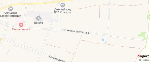 Улица им Шкуракова на карте села Воронка с номерами домов