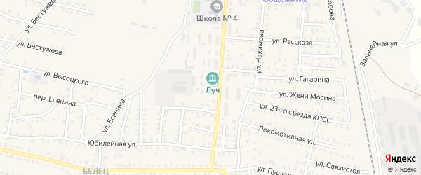 4-й Комсомольский переулок на карте Унечи с номерами домов