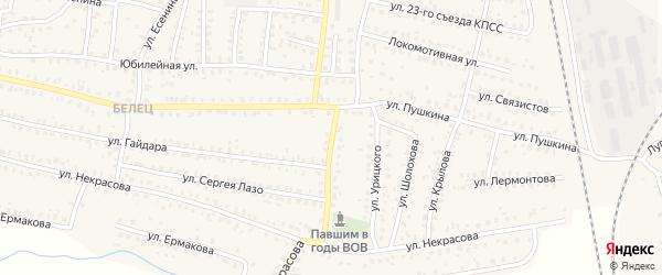 Партизанская улица на карте Унечи с номерами домов