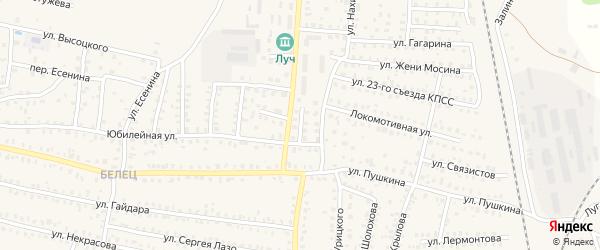 1-й Комсомольский переулок на карте Унечи с номерами домов