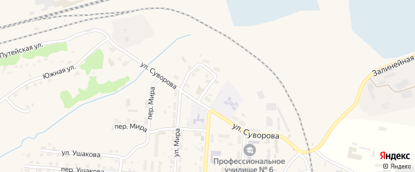 Переулок Суворова на карте Унечи с номерами домов
