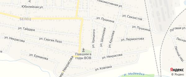 Улица Урицкого на карте Унечи с номерами домов