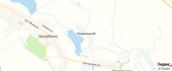 Карта Новенького хутора в Брянской области с улицами и номерами домов