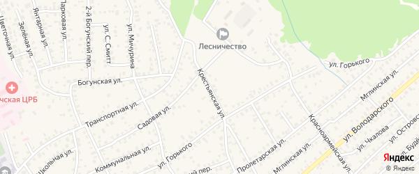 Крестьянская улица на карте Унечи с номерами домов