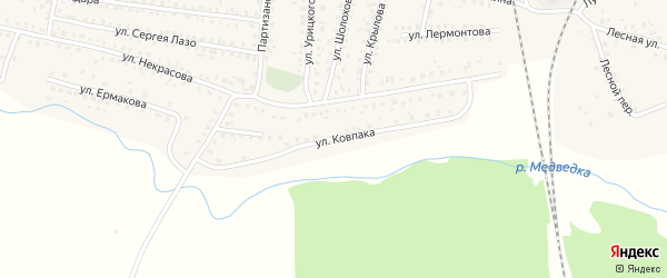 Улица Ковпака на карте Унечи с номерами домов
