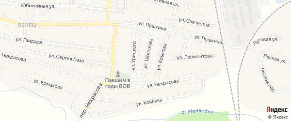 Улица Шолохова на карте Унечи с номерами домов