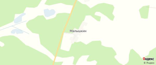 Карта хутора Малышкина в Брянской области с улицами и номерами домов