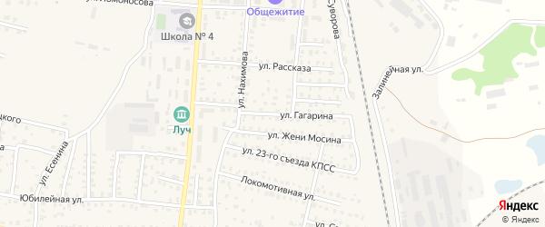 Улица Гагарина на карте Унечи с номерами домов