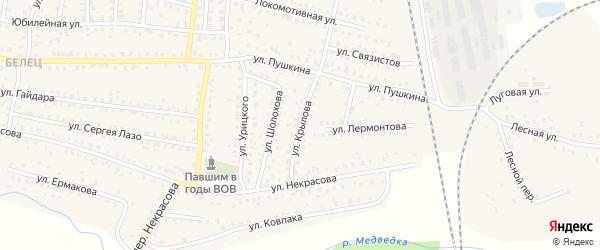 Улица Крылова на карте Унечи с номерами домов