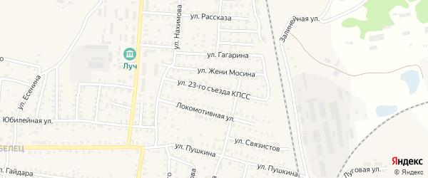 Улица 23 Съезда КПСС на карте Унечи с номерами домов