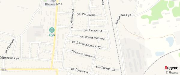 Улица Мосина на карте Унечи с номерами домов