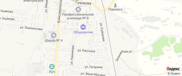 Улица Строителей на карте Унечи с номерами домов