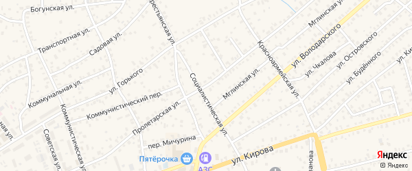 Пролетарская улица на карте Унечи с номерами домов