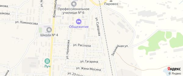 Переулок 1-й Ломоносова на карте Унечи с номерами домов
