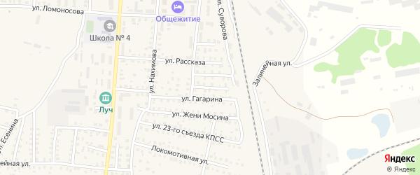 Переулок 3-й Ломоносова на карте Унечи с номерами домов