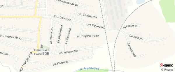 Улица Лермонтова на карте Унечи с номерами домов