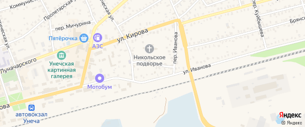 Социалистический переулок на карте Унечи с номерами домов