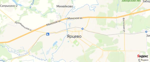 Карта Ярцево с районами, улицами и номерами домов