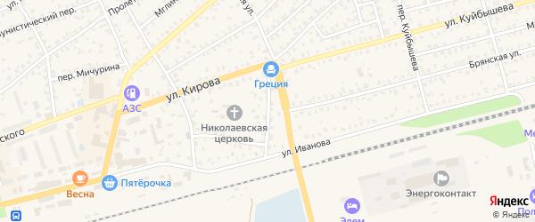 Переулок Иванова на карте Унечи с номерами домов