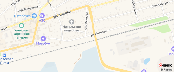 Улица Иванова на карте Унечи с номерами домов