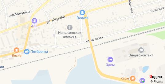 Улица Иванова в Унече
