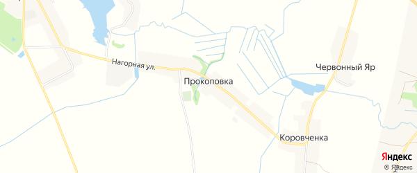 Карта деревни Прокоповки в Брянской области с улицами и номерами домов