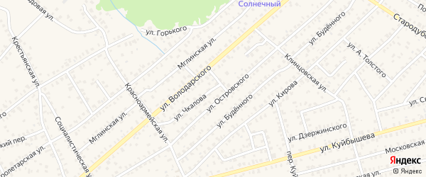 Улица Чкалова на карте Унечи с номерами домов